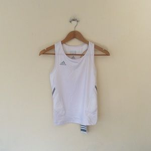 Adidas White climacool tank top M NWT
